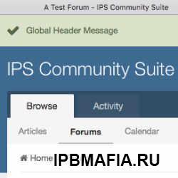 Global Header Message