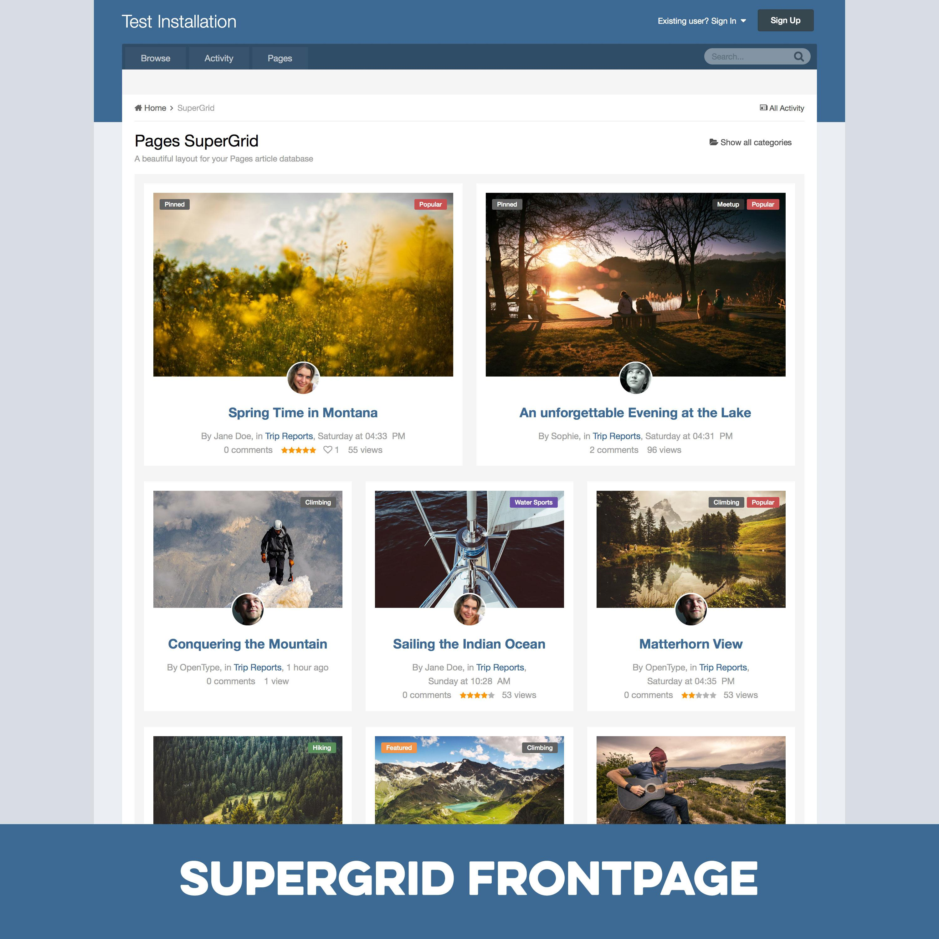 Pages SuperGrid