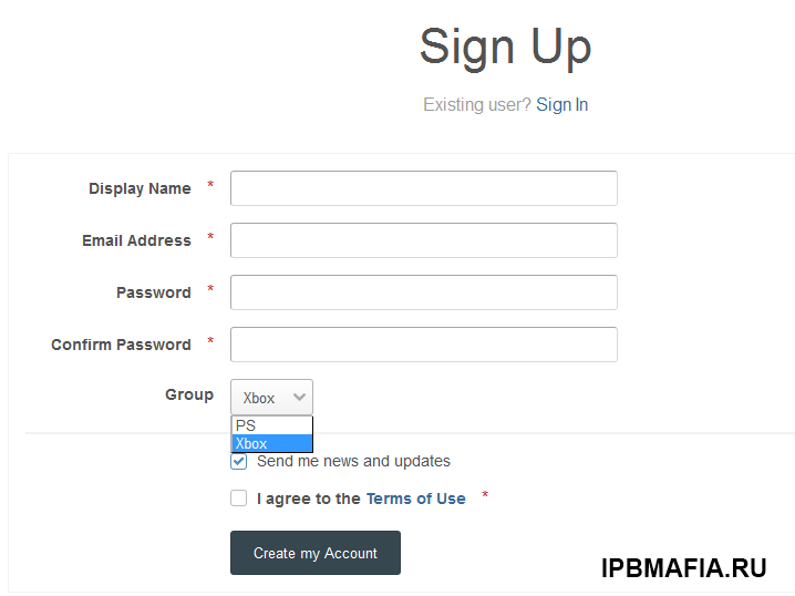 User Groups in Registration Screen & Account Settings
