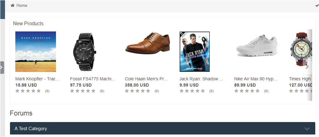 Store Products Widget