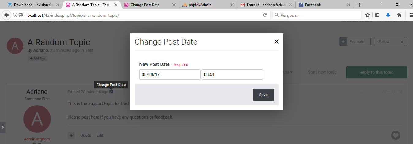 Change Post Date
