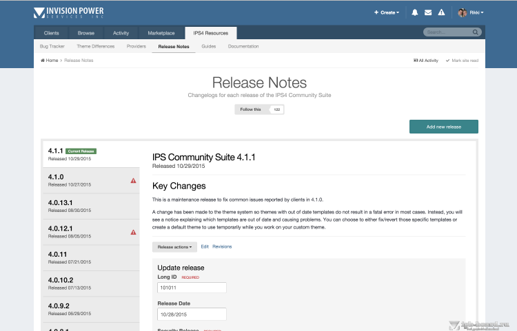 Release Notes Tutorial
